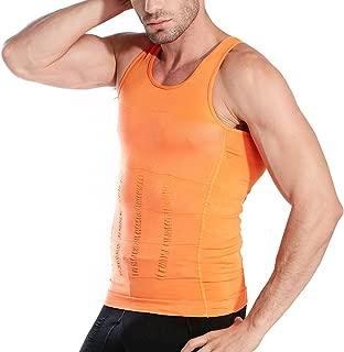 Hoter Mens Slimming Body Shaper Vest Shirt Abs Abdomen Slim, Multi-Style to Choose
