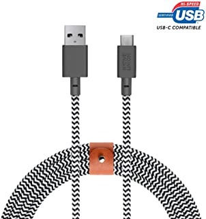 NATIVE UNION [ネイティブユニオン] Belt Cable XL USB-C to USB-A 3m 急速充電ケーブル レザーストラップ付き - Samsung Galaxy Z Fold 2, Z Flip, S21, S21+,...