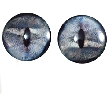 Sculptures 40mm Dark Great White Shark Glass Eyes for Dolls Taxidermy Jewelry