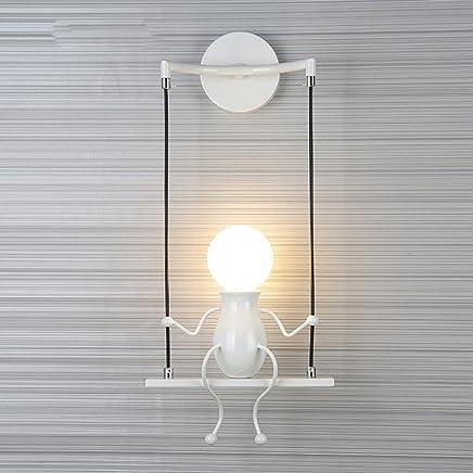 FSTH Simple Poupée De Mode Balançoire Enfants Applique Murale Moderne Salon  Chambre Créative De Chevet Mur