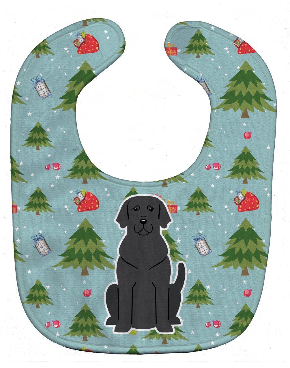 Caroline's Treasures BB4717BIB Christmas Black Labrador Baby Bib, 10 x 13
