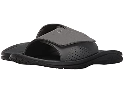 OluKai Nalu Slide (Dark Shadow/Dark Shadow) Men