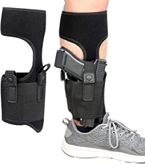 Kosibate Ankle Holster for Concealed Carry   Universal Leg Carry Gun Holster with Magazine Pouch Fits Ruger LCP 380 Glock 26 42 P938 S&W M&P Shield 9mm