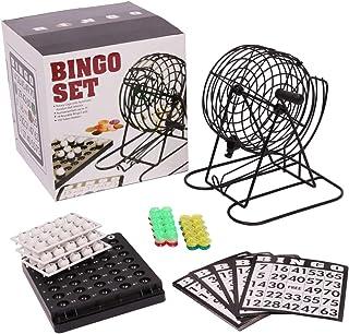 Paraizo ビンゴ ゲーム セット ビンゴマシーン コンパクト ポータブル ゲーム機 ナンバー入りボール ビンゴカード 付きミニ 抽選