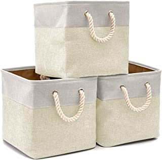 EZOWare Cajas de Almacenaje, 3 Pcs Cesta Organizador Cubos