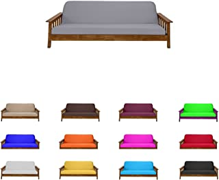 Futon Mattress Cover Solid Color Choose Color Size Twin Full Queen (Twin (6