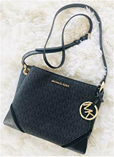 6209aac0e7ff Michael Kors Nicole Triple Compartment Crossbody Bag Black Signature