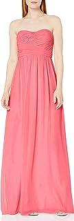 Donna Morgan Women's Stephanie Long Strapless Chiffon Dress