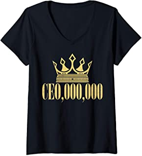 Womens CE0,000,000 Entrepreneur CEO Business Owner Gift V-Neck T-Shirt