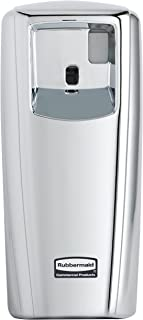 Rubbermaid Commercial Products 1793536 Microburst Automated Odor-Controlling Aerosol Air Care System, MB9000 Dispenser, 9000 m, Chrome