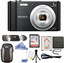 Sony W800/B DSC-W800/B DSCW800B 20 MP Digital Camera 5X...
