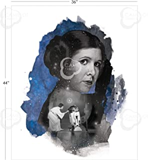 Star Wars Princess Leia Fabric Panel by Camelot Fabrics 100% Cotton Quilting Sewing