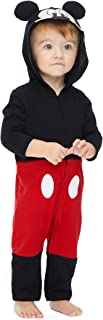 Mickey Mouse Infant Baby Boys' Zip-Up Hooded Costume Coverall