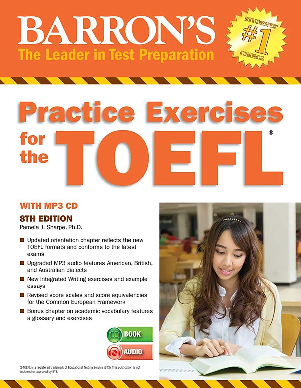 写真を描く貫入ベジタリアンPractice Exercises for the TOEFL with MP3 CD (Barron's Practice Exercises for the TOEFL)