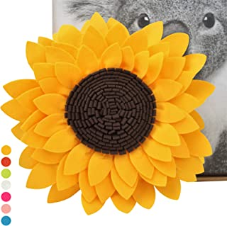 "Sunflower Decorative Throw Pillows - 3D Flower Pillow - Accent Round Pillow - Sunflower Decorations - Flower-Shaped Decor for Living Room (14.5"" Flower,13"" Round Pillow With Insert, Sunny)"