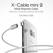 Wsken Magnetic Micro USB Cable, Nylon Braided Data Charger Lead with Metal Plug LED Indicator Light for Samsung S2 S3 S4 S6 S7 Edge, Note 2/3/4/5, Tab S2 S, LG G4 G3, Sony Xperia Series Phones