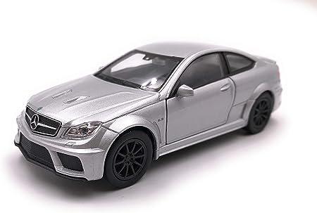 Onlineworld2013 Modellauto Amg C63 Black Series Silber Auto Maßstab 1 34 39 Lizensiert Auto