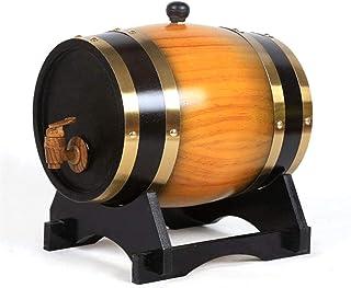 YAOSHUYANG Tonneau Seau de chêne avec Tampon d'aluminium intégré pour Stocker Votre Propre Whisky, bière, vin, Bourbon, Sa...