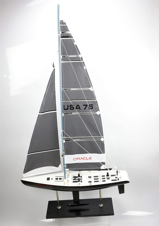 Oracle barca barca a vela cm 115x62 modellololo modellololismo legno vela modellololo