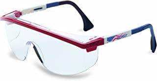 UVEX by Honeywell 763-S1169C Astrospec Series 3000 Safety Eyewear, Patriot RWB Frame, Clear Lens, Uvextreme Anti-fog Coating, Duoflex Temples (Pack of 10)