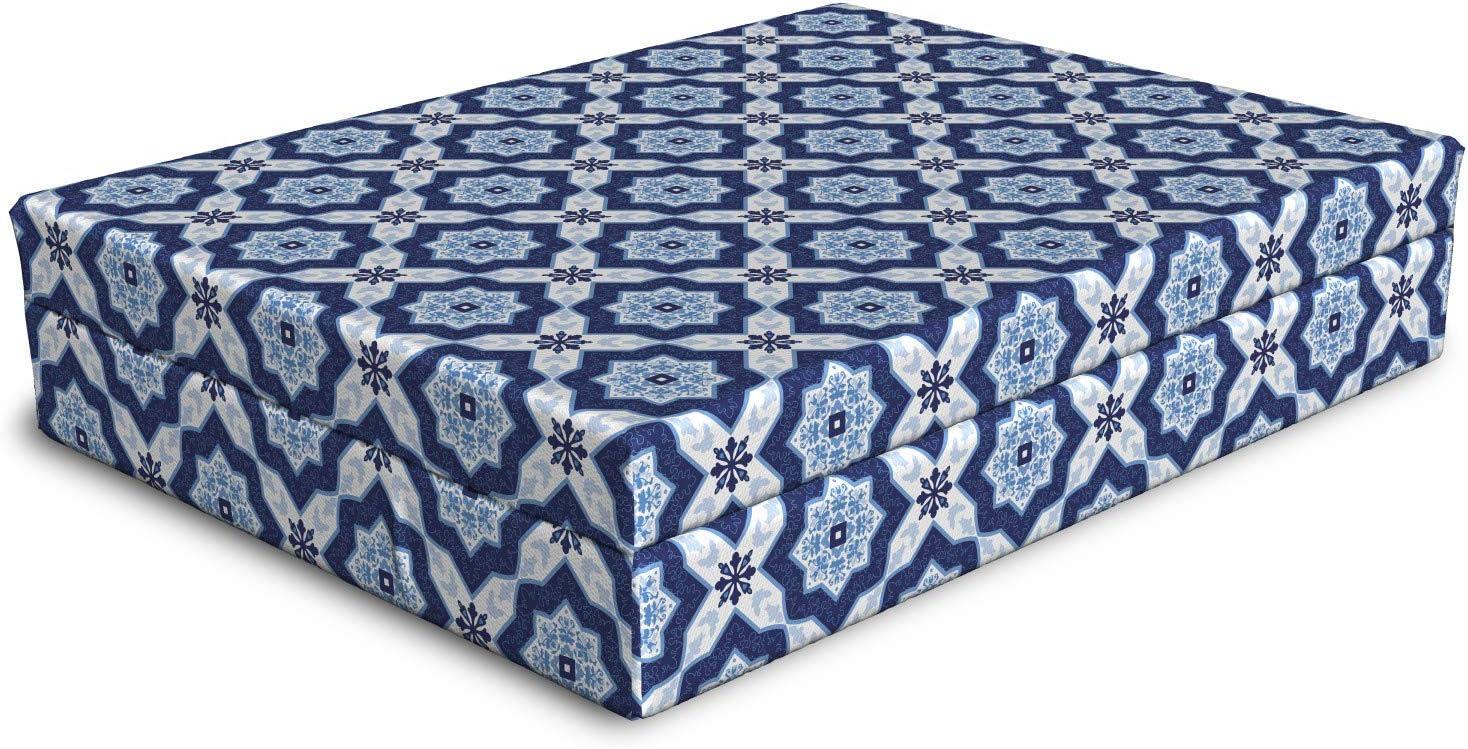 Ambesonne Blue Dog Bed Traditional Azulejo trust Vint Portuguese OFFicial shop Tile