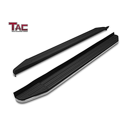TAC Running Boards Fit 2016-2019 Honda Pilot SUV Aluminum Black Side Steps Nerf Bars