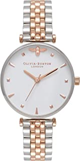 Olivia Burton Queen Bee White Dial Two-Tone Ladies Watch OB16AM93