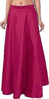 STUDIO Shringaar Women's Fully Stitched Tafetta Skirt Lehenga (Free Size)