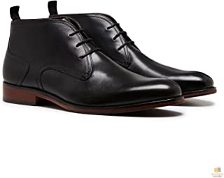 Julius Marlow Spike Leather Boots Dress Work Formal Business Shoes Chukka New