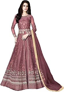 NET FABRIC HEAVY EMBROIDERED ANARKALI SUIT