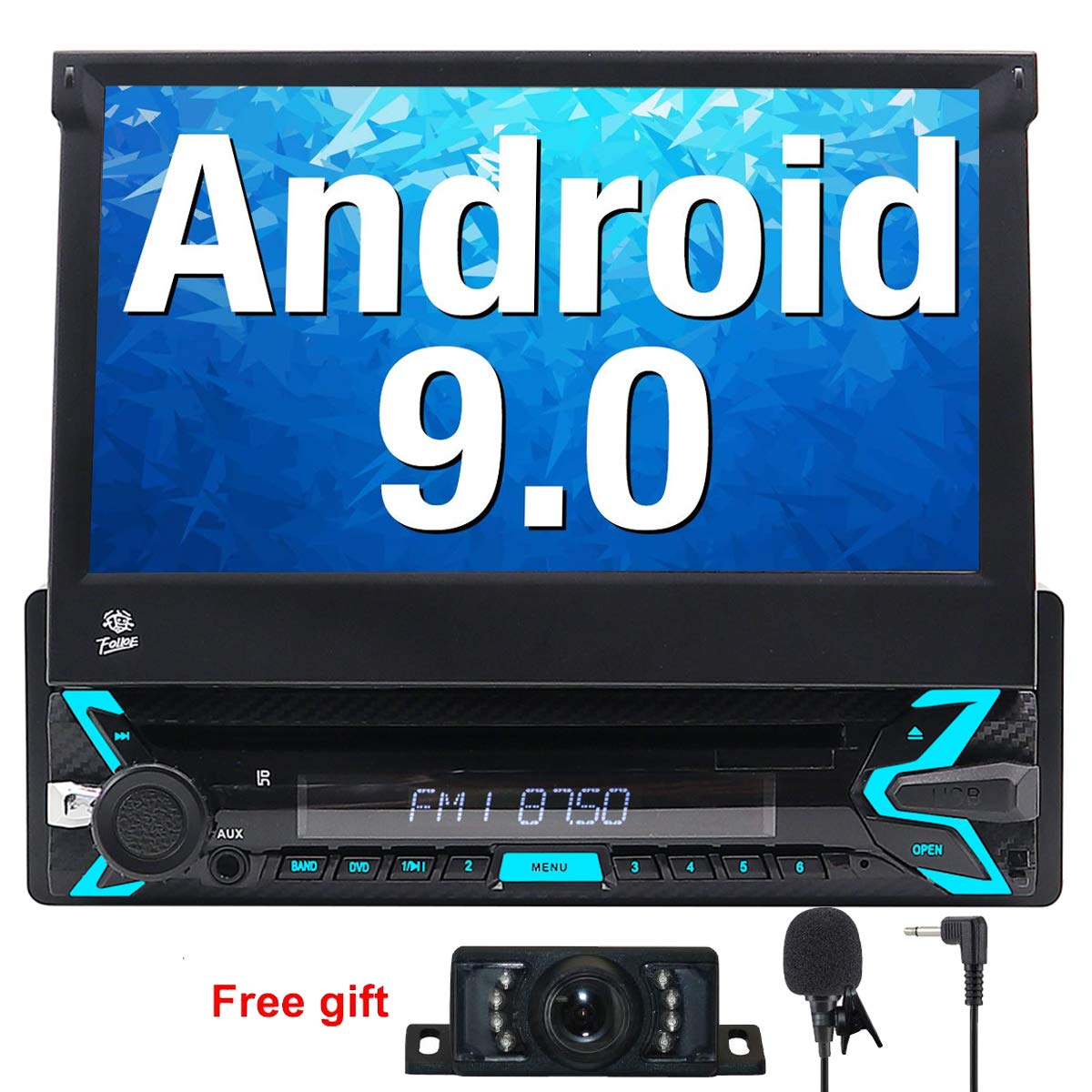 FOIIOE Android 9.0 Autoradio 1 DIN Radio para Coche soporta GPS ...