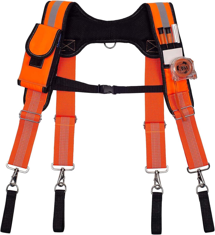 AISENIN Carpenter Tool Belt Sus Dedication Superior Duty Heavy Suspenders