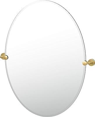 "Gatco 4239LG Latitude II Oval Mirror, 32"", Brushed Brass"
