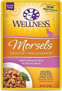ウェルネス キャットフード 成猫用(1歳以上) ヘルシーインダルジェンス(穀物不使用) 香るとろみスープ仕立てサーモン&ツナ 85g×12袋 (ケース販売)
