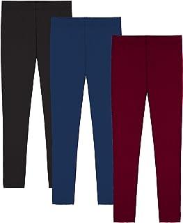 Sponsored Ad - Popular Girls Leggings Ankle Length - Cotton Leggings for Girls in Solid & Tie Dye Design. School Uniform o...