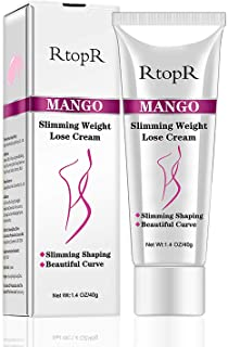 Slimming Cream for Tummy, Abdomen, and Waist - Firming Cream - Hot Cream for Weight Loss - Anti-Cellulite - Natural Ingredients (Mango)