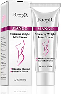 Slimming Cream for Tummy, Abdomen, Belly and Waist - Firming Cream - Hot Cream for Weight Loss - Anti Cellulite Cream And Stomach Fat Burner - Natural Ingredients (Mango)