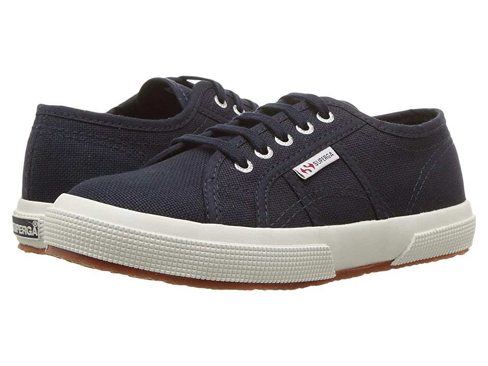 Superga Kids 2750 JCOT Classic (Toddler/Little Kid) (Navy/White) Kid
