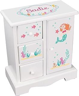 MyBambino Personalized Girls Little Mermaid Jewelry Armoire Chest Box