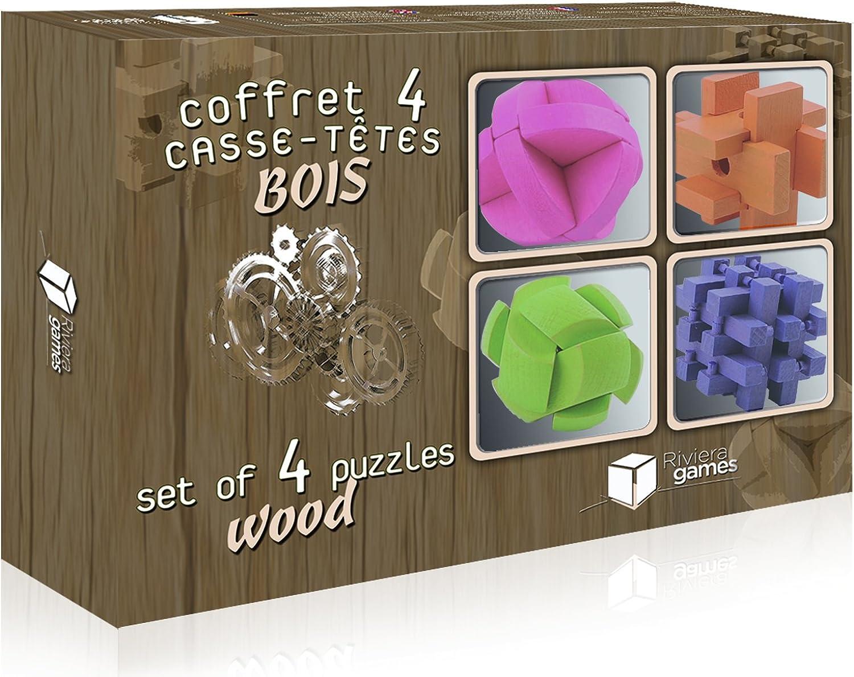 Riviera Games C4BC – Coffret 4 Puzzles aus Holz und in Farbe B01B7GBDK6 Hohe Qualität und günstig  | Große Auswahl
