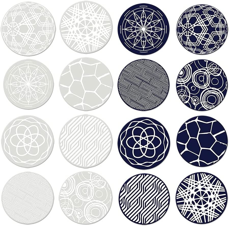 gift Same day shipping Wzdszuilbd Coaster Round Heat Resistant Silic Coasters Reusable