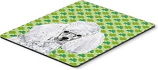Caroline's Treasures White Toy Poodle Lucky Shamrock St. Patrick's Day Mouse Pad/Hot Pad/Trivet (SC9725MP)