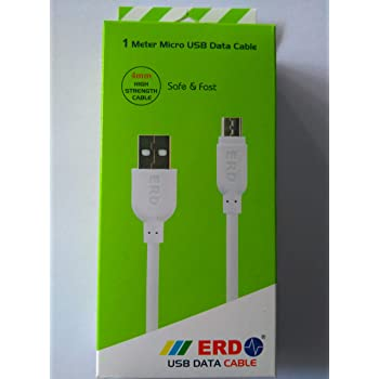 ERD 1 m Micro USB Data Cable (White)