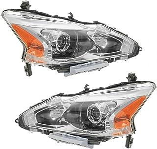 Headlight Head Lamp Halogen LH Left RH Right Pair for 13...