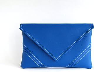 205dc1abbd Royal Blue Clutch Bag Handmade Cobalt Vegan Bag Vegan Leather Clutch Purse  Bridesmaid Clutch Vegan Purse
