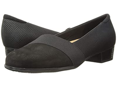 Trotters Melinda (Black Casual Leather/Snake) Women