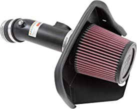 K&N Cold Air Intake Kit with Washable Air Filter: 2013-2018 Mazda 3, 2.0L L4, Black Metal Finish with Red Oiled Filter, 69-6033TTK