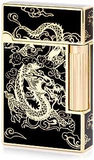 Gold Dragon Flint Wheel Cigarette Butane Gas Lighter