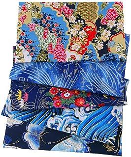 ASNOMY 5 Pezzi 50 x 50 cm Tessuti Tessuto Cotone Stoffa Stile Giapponese Tessuto Abbronzante Patchwork Cucito Creativo Sto...