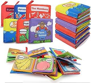布絵本 布えほん 子供絵本 布の絵本 破れないブック 英語 ソフトブック 知育玩具 赤ちゃん 布のおもちゃ(六本セット)